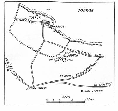 Map of Tobruk